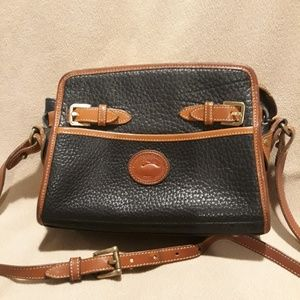 Dooney and Bourke black leather bag